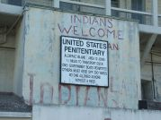 Alcatraz native occupation sign