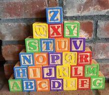 alphabet blocks stacked