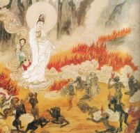 Avalokitsevara descends into hell