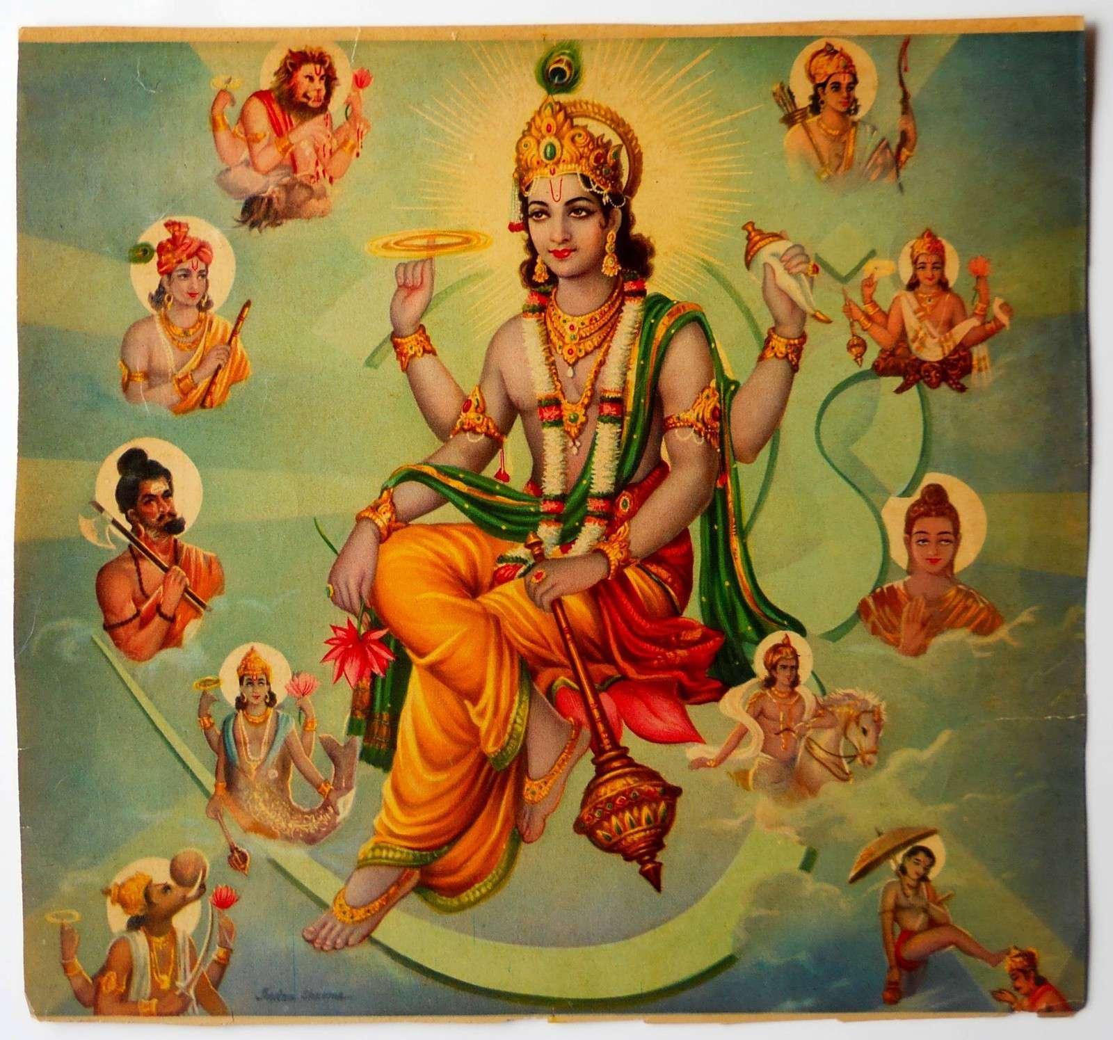 avatars of vishnu with buddha
