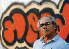 baudrillard with grafitti