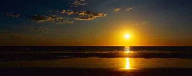 beach ocean sunset