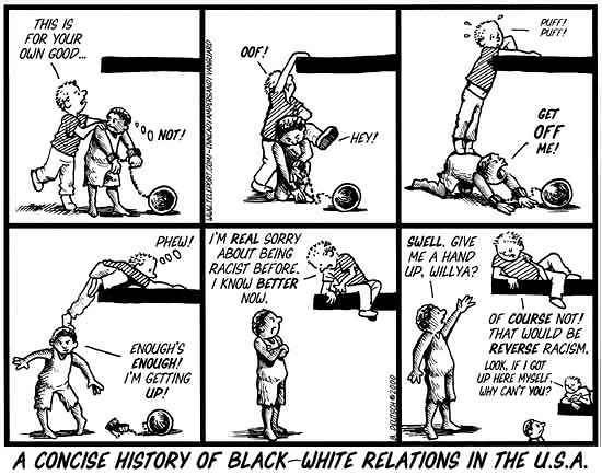 black white history relations