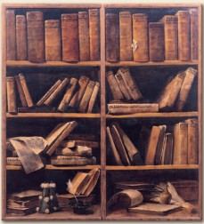 bookcase painting