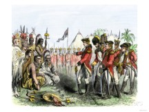 british red coats negotiate with native americans