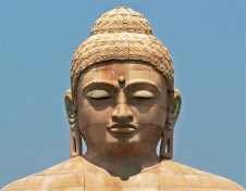 buddha face closed eyes
