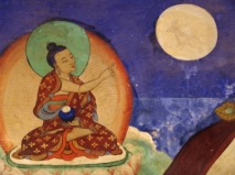 Buddha points to the moon