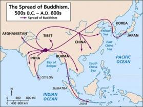 Buddhism Spread Map