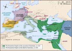 Byzantium Empire Map