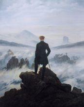 Caspar Wanderer above the sea of fog (mountains hiker)