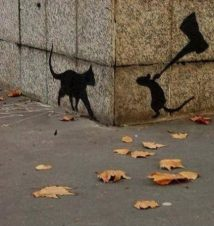 Cat and Mouse Street Art