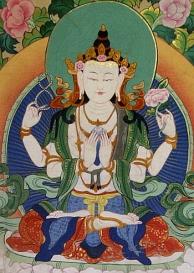 Chenrezigthangka Avalokitesvara Tibet