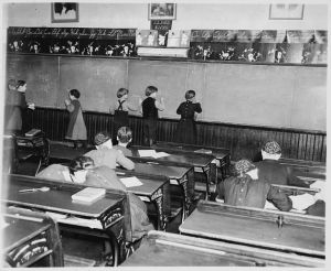 children at the blackboard