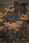 Chinese Painting Landscape Mountain Bridge