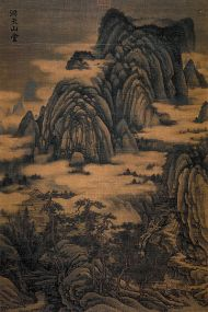 Chinese Painting Landscape Mountain Bridge