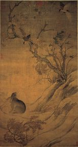 Chinese Painting magpie and hare