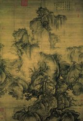 Chinese Painting Mountain Waterfall