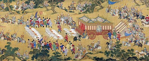 Chinese painting procession