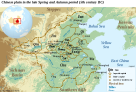 Chinese Spring Autumn Period Map