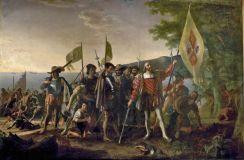columbus lands in america