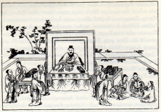 Confucius and students