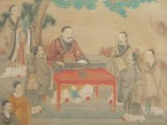 Confucius teaching students