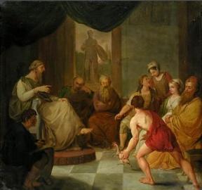 Diogenes Plato plucked chicken