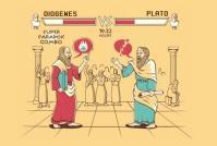diogenes vs plato