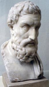 Epicurus Statue Bust