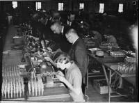 Factory workers and managers