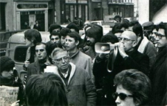 foucault-and-sartre protest