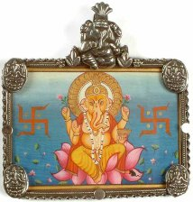 Ganesh with Swastikas