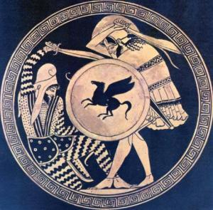 Greek Persian plate