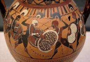 greek vase warriors