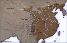 Han Dynasty map china
