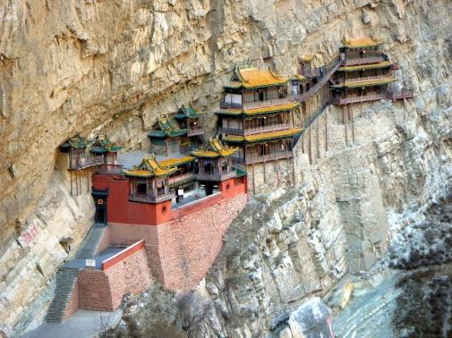 Hanging Buddhist Monastery China