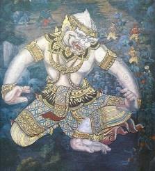 hanuman thai painting