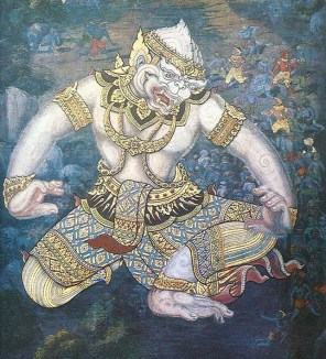 hanuman thai painting