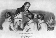 Hegel am Katheder / Litho v.Kugler