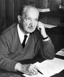 heidegger at his desk