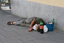 homeless alchoholic
