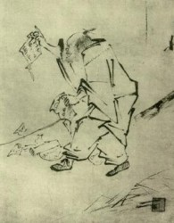 Huineng tears up sutras