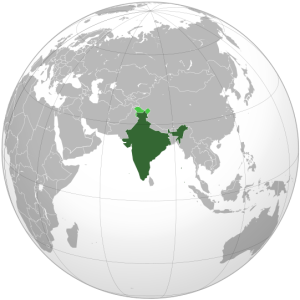 India globe map