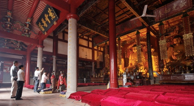 inside Chinese Buddhist Temple