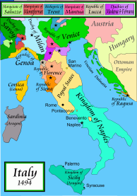 Italy map 1494