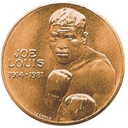 joe lewis boxing coin