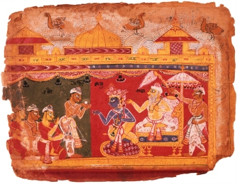 krishna illustrated manuscript