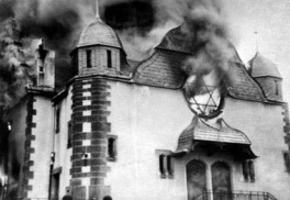 kristallnacht-burning synagog