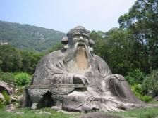 Laozi statue china earlobes