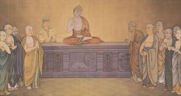 mahakasyapa buddha holds up a flower
